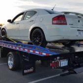 Car On Tow Truck Back